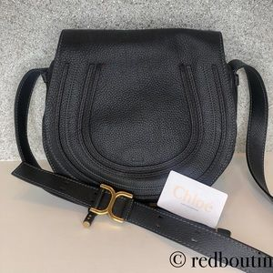 81ec1eb847 Chloe Bags | Marcie Medium Black Leather Crossbody Bag | Poshmark